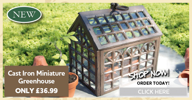 cast iron miniature greenshouse