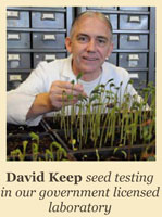 David Keep - Seed testing in our government licensed laboratory