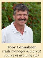 Tony Connabeer - Trials manager and a great source of growing tips