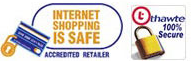 Dobies uses Thawte SSL which guarantees a totally safe, online shopping experience!
