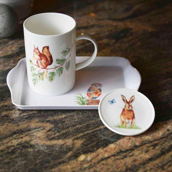 RSPB 'Country Wildlife' Mug, Tray & Coaster Set
