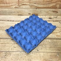 Family Blue Fibre Egg Trays 30 Egg Tray