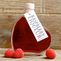 Raspberry Yummy with Love Heart Liqueur