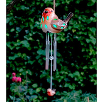 Solar Ceramic Robin Light