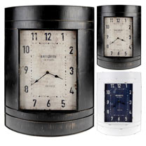 Metal Wall Clock - Black