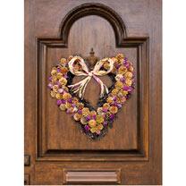 Winter Rose Heart Wreath
