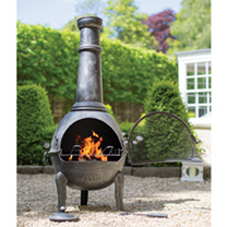 Aspen Extra Large Chimenea with Grill