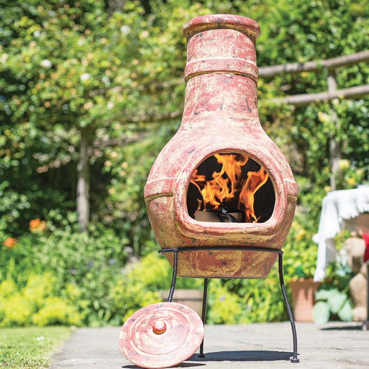 Large banded chimenea garden features garden for Large garden equipment