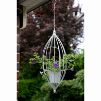 Hanging Flower Pot - White
