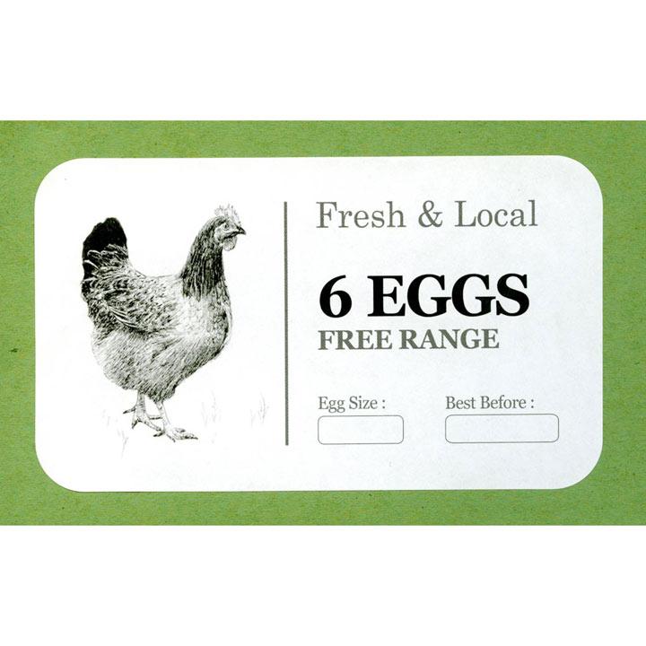 Egg Box Labels - Monochrome