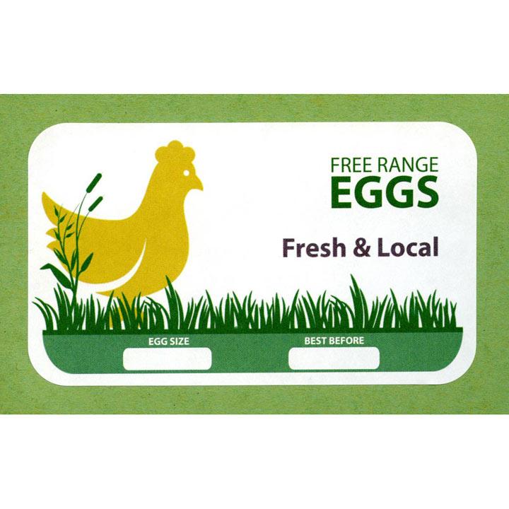 Egg Box Labels - Yellow Hen