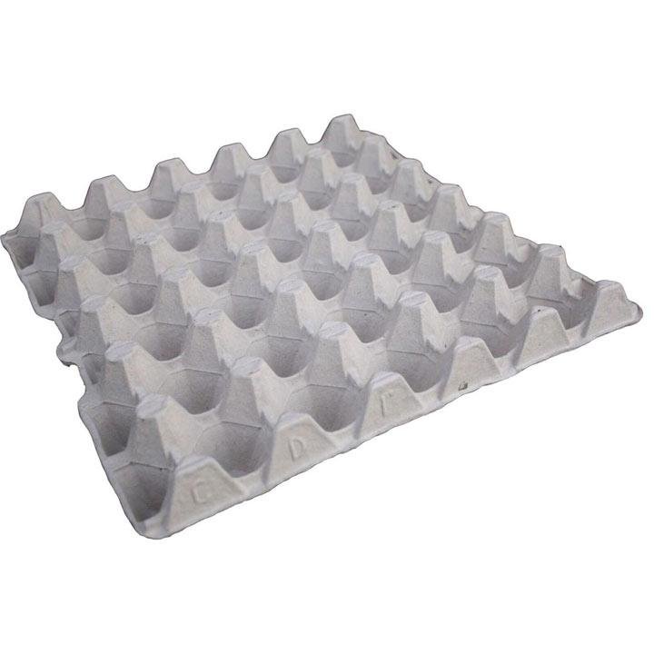 Grey Fibre Egg Trays for 30 Eggs