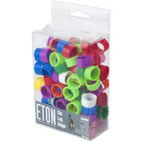 Clic Leg Rings 12mm - Assorted Colours
