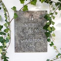 Keep Calm Garden Wall Sign