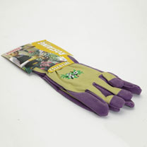 Gardening Gloves - Ladies Essential Embroidered Cotton Purple