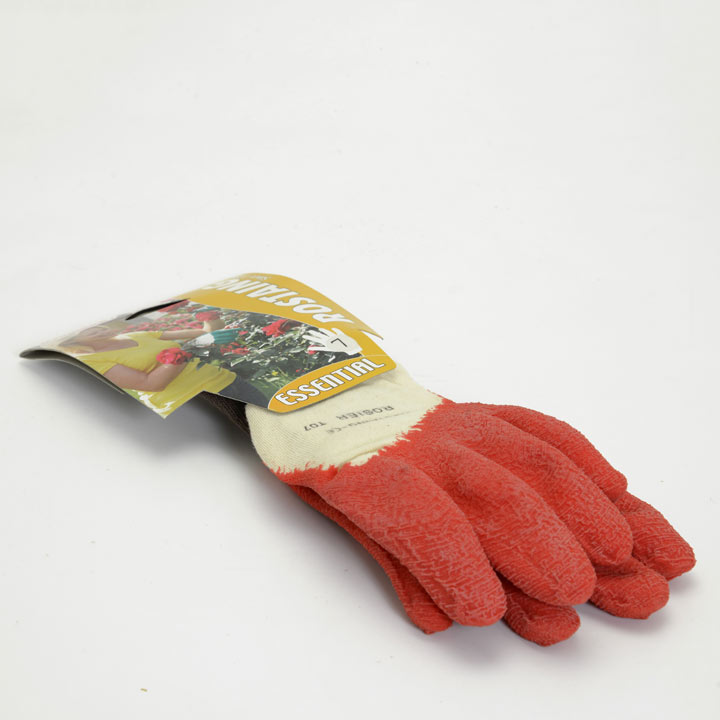 Gardening Gloves - Essential Latex Rose Red Size 7