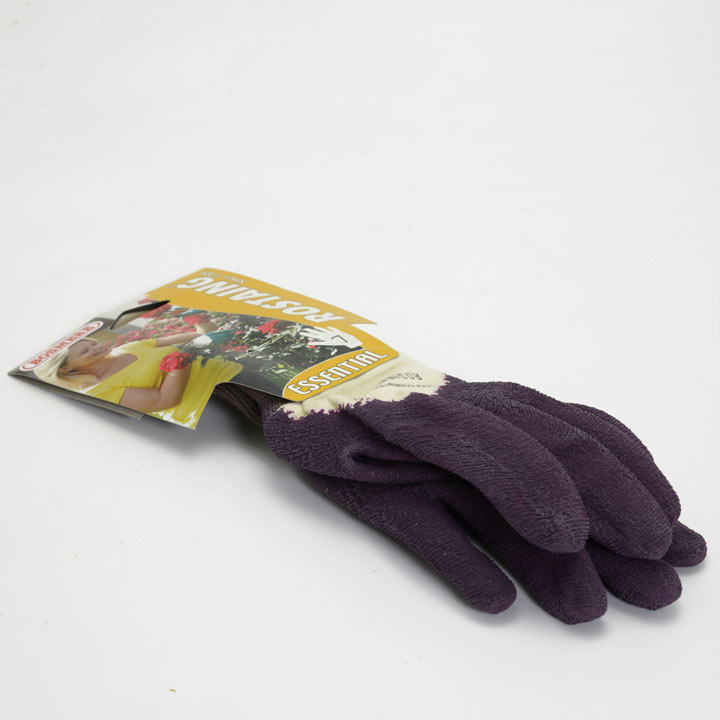 Gardening Gloves - Essential Latex Rose Purple Size 7