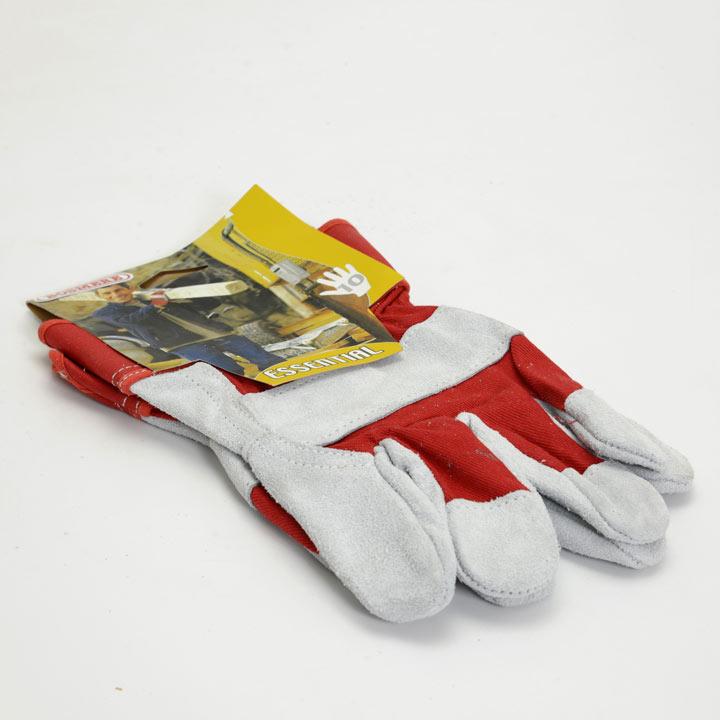 Gardening Gloves - Heavy Duty Cotton/Suede Work Size 10