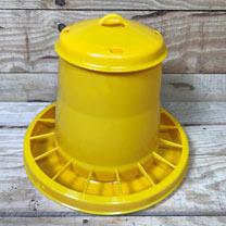 Plastic Chicken Feeder (Yellow) 15kg