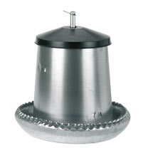 Galvanised Feeder for Chicks