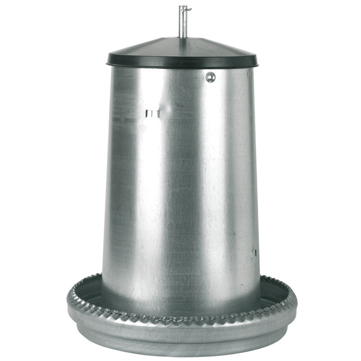 Galvanised feeder for Chickens