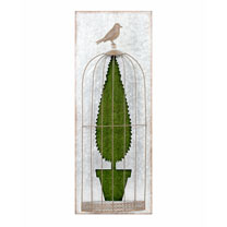 Flocked Wall Art - Topiary B