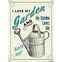 Metal Sign - I Love My Garden