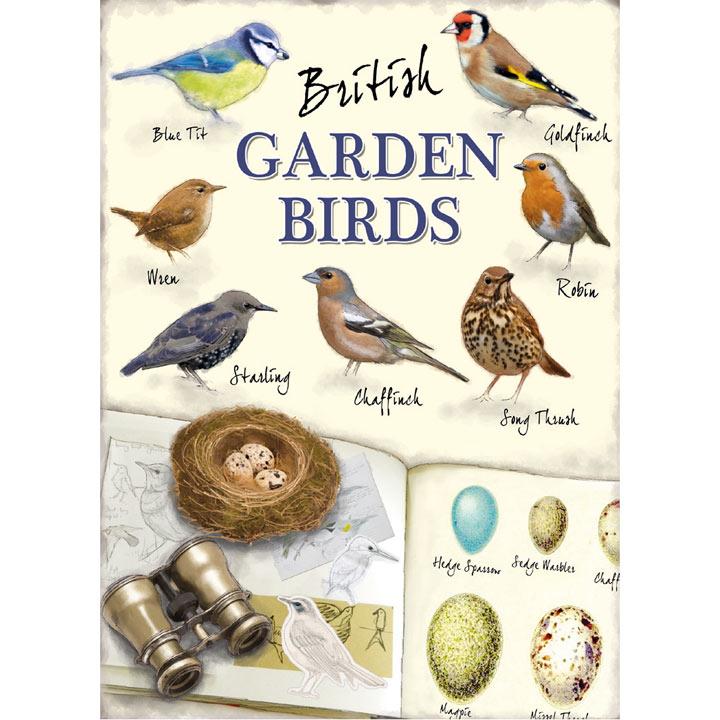 Metal Sign - British Garden Birds