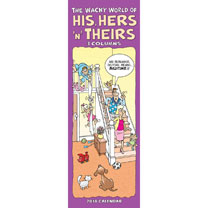 His, Hers & Theirs Slim Calendar