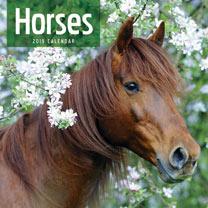 Wall Calendar Horses