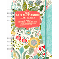2015 Do It All Planner Secret Garden