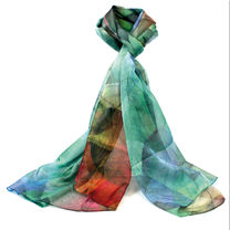 Scarf - Gold & Blue