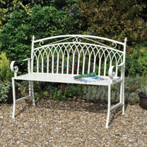 Versailles Garden Bench - Cream