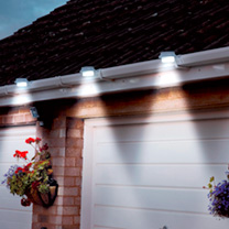 Solar Gutter Lights - Black