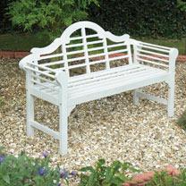 Lutyens Garden Bench - White