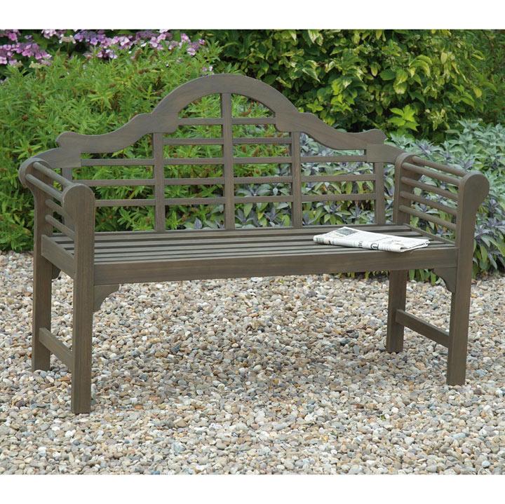 Lutyens Garden Bench - Grey