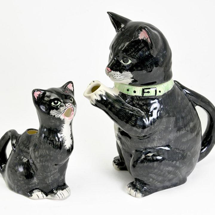 Cat - Teapot & Milk Jug