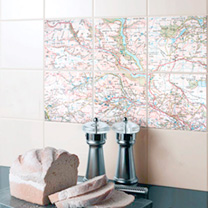 Ceramic Map Tiles - Landranger 20 x 20cm