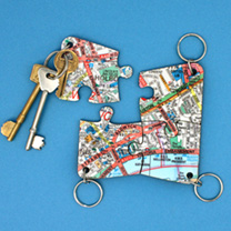 Map Keyrings  London