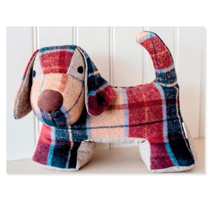Tweed Dog Door Stopper & Throw