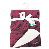 Personalised Pet Throw - Maroon