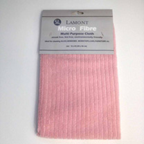 Pink Microfibre Cloth
