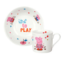 Peppa Pig Mug & Bowl Set