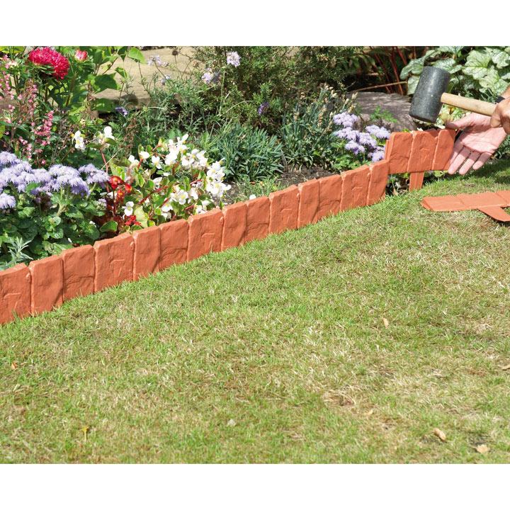 Easy Fit Stone Edging - Terracotta