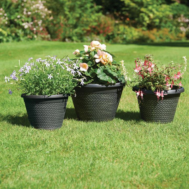 Wicker Effect Planters