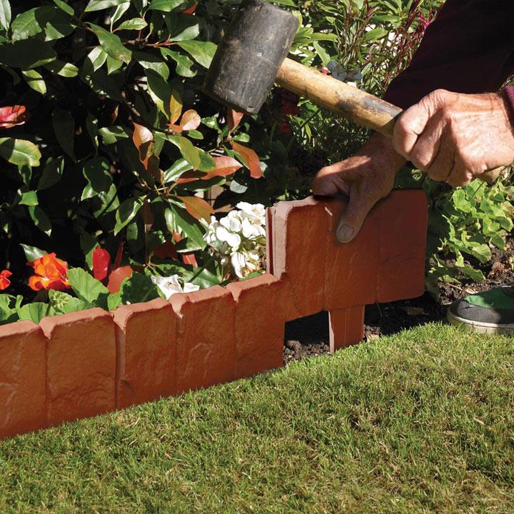 Tap in Stone Edging - Terracotta
