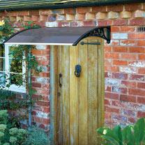 Door Canopy Black Grey Cover - 1m