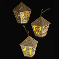 3 Lanterns with LED Lights