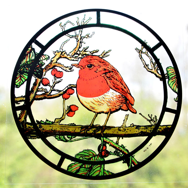 Window Robin Cling