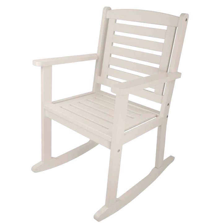 White Rocking Carver Chair